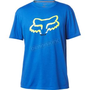 Fox True Blue Seca Head TruDri Tech T-Shirt - 18843-588-L