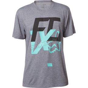 Fox Heather Graphite Head Over Heels Tech T-Shirt - 19253-185-2X