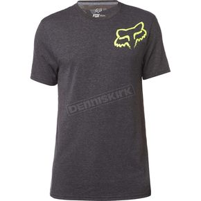 Fox Heather Black Grav Back TruDri Tech T-Shirt - 19246-243-L