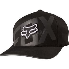 Fox Black Layered FlexFit Hat - 19197-001-S/M