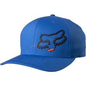Fox Blue Seca Head FlexFit Hat - 18742-002-S/M