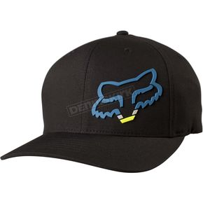 Fox Black Seca Head FlexFit Hat - 18742-013-S/M