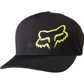 Fox Black Grav FlexFit Hat - 19190-001-S/M