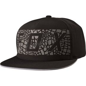 Fox Black Grav Snapback Hat - 19201-001-OS