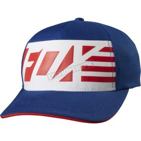 Fox Youth Blue Red, White And True FlexFit Hat - 20247-002-OS