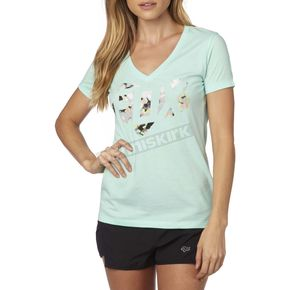 Fox Women's H2O Fracture V-Neck T-Shirt - 19172-438-XS