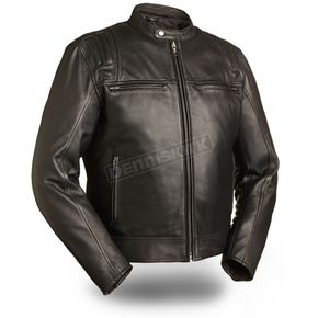 First Manufacturing Co. Black Carbon Leather Jacket - FIM-241-CCBZ-2X