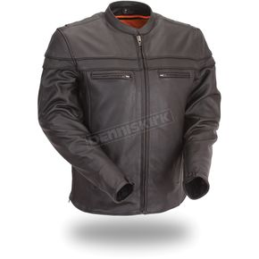First Manufacturing Co. Black The Maverick Leather Jacket - FIM-262-NTCZ-2X