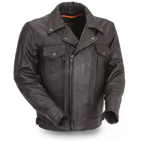 Black Mastermind Leather Jacket - FIM-244-BNKDZ-2X