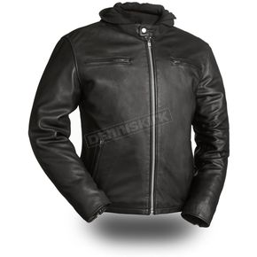 First Manufacturing Co. Black Street Cruiser Leather Jacket - FIM-248-CCBZ-5X-4X