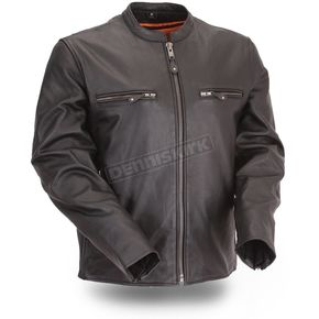 First Manufacturing Co. Black The Promoter Leather Jacket - FIM-272-CFDZ-5X-3X