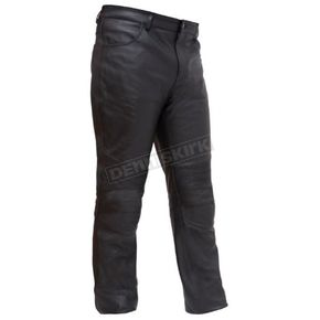 First Manufacturing Co. Black Smarty Leather Pants - FIM-834-CSL-40