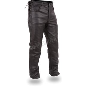 First Manufacturing Co. Black The Baron Leather Overpants - FIM-807-CFD-32