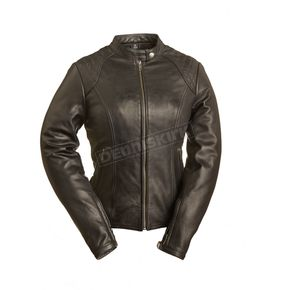 First Manufacturing Co. Women's Black Girly Girl Leather Jacket - FIL-102-CSLZ-S