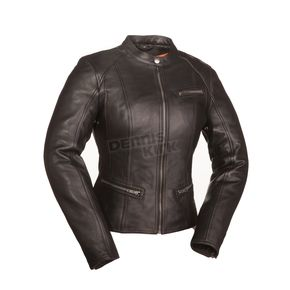 First Manufacturing Co. Women's Black First Fashionista Leather Jacket - FIL-108-CCBZ-S