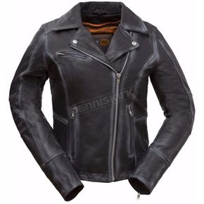 First Manufacturing Co. Women's Black Arcadia Leather Jacket - FIL186-CJZ-L