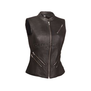 First Manufacturing Co. Women's Black The Fairmont Vest - FIL-512-NOC-S