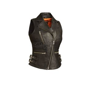First Manufacturing Co. Women's Black The Sexy Goddess Vest - FIL-510-CCB-2X
