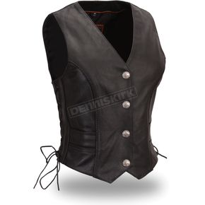 First Manufacturing Co. Women's Black Native Lacy Vest - FIL-538-CFD-L