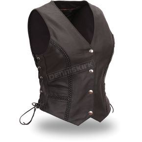 First Manufacturing Co. Women's Black Trinity Vest - FIL-508-CFD-XL