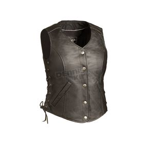 First Manufacturing Co. Women's Black Honey Badger Vest - FIL-566-RCSL-2X