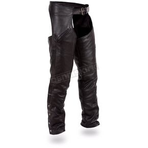 First Manufacturing Co. Black Nomad Chaps - FMM-830-BM-XL
