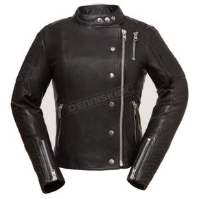 First Manufacturing Co. Women's Black The Warrior Princess Leather Jacket - FIL-187-CJZ-M