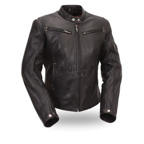 First Manufacturing Co. Women's Black Athena Leather Jacket - FIL157-NOCZ-M