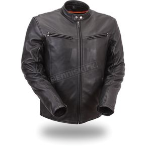 First Manufacturing Co. Black Apollo Leather Jacket - FIM-257-NOCZ-M