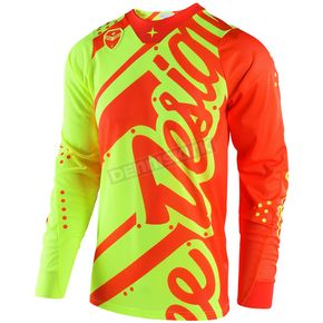 Troy Lee Designs Fluorescent Yellow/Orange SE Air Shadow Jersey - 302499572