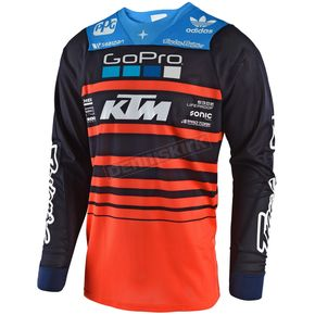 Troy Lee Designs Navy/Orange SE Air Streamline Team Jersey - 302404735