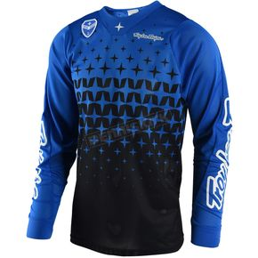 Troy Lee Designs Blue/Black SE Air Megaburst Jersey - 302489325