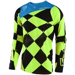 Troy Lee Designs Fluorescent Yellow/Black SE Joker Jersey - 303488535