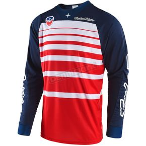 Troy Lee Designs Red/Navy SE Streamline Jersey - 303404434