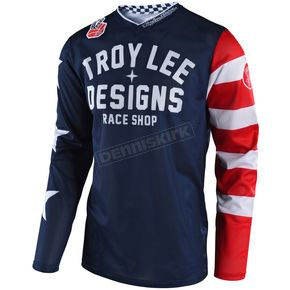 Troy Lee Designs Navy GP Air Americana Jersey - 304496302