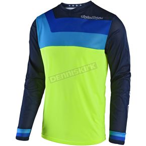 Troy Lee Designs Youth Fluorescent Yellow GP Air Prisma Jersey - 306493503
