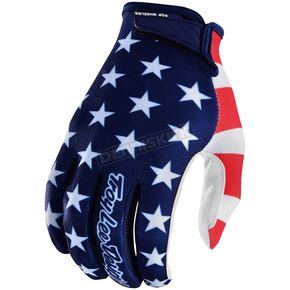 Troy Lee Designs Navy/Red Air  Americana Gloves - 404496344