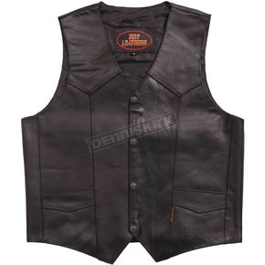 Hot Leathers Heavyweight Cowhide Leather Vest - VSM1014XL