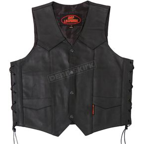 Hot Leathers Heavyweight Leather Vest - VSM1015XL