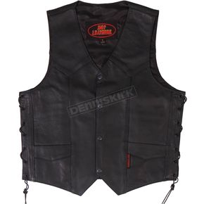 Hot Leathers Heavy Leather Vest w/Side Laces - VSM1033XL