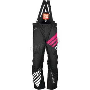 Arctiva Women's Black/Pink Comp Insulated Bibs - 3131-0483