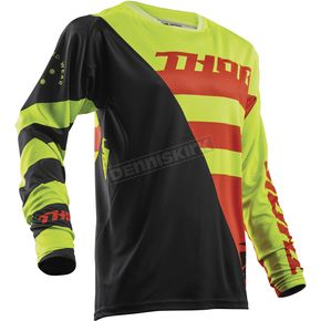 Thor Lime/Orange Fuse Air Rive Jersey - 2910-4327