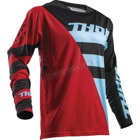 Thor Red/Blue Fuse Air Rive Jersey - 2910-4332