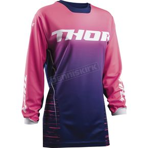 Thor Women's Navy/Pink Pulse Dashe Jersey - 2911-0161