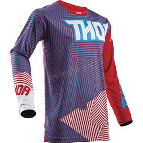 Thor Youth Red/Blue Geotec Jersey - 2912-1517