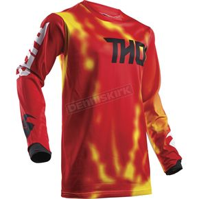 Thor Youth Red Pulse Air Radiate Jersey - 2912-1540