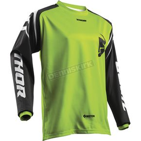 Thor Youth Lime Green Sector Zones Jersey - 2912-1558