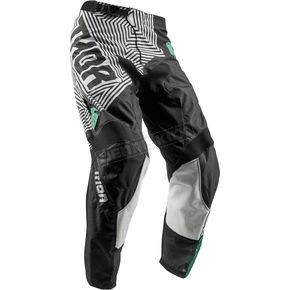 Thor Youth Black/Teal Pulse Geotec Pants - 2903-1546