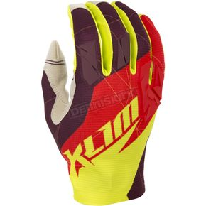 Klim Red/Yellow XC Gloves - 5002-001-160-100