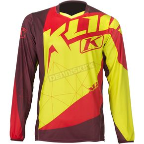 Klim Red/Yellow XC Jersey - 5003-001-140-100